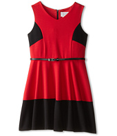 Us Angels - Sleeveless Ponte Bleted Color Block and Full Skirt (Big Kids)
