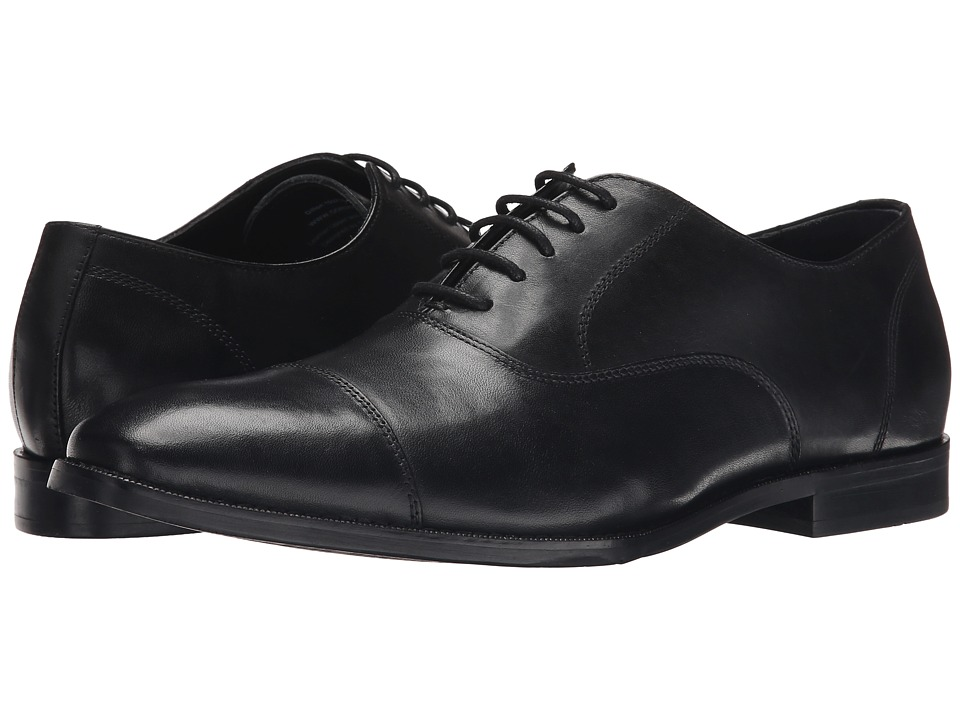 Gordon Rush Dillon Black Leather Mens Lace Up Cap Toe Shoes