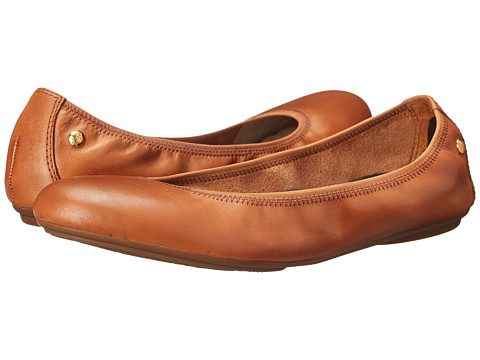 Hush Puppies Chaste Ballet - Cognac Leather