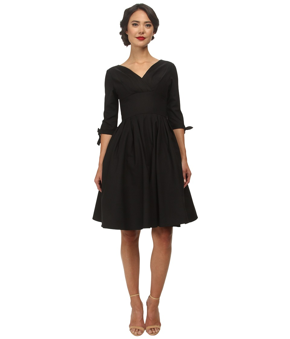 Unique Vintage - Diana Swing Dress Black Womens Dress $128.00 AT vintagedancer.com
