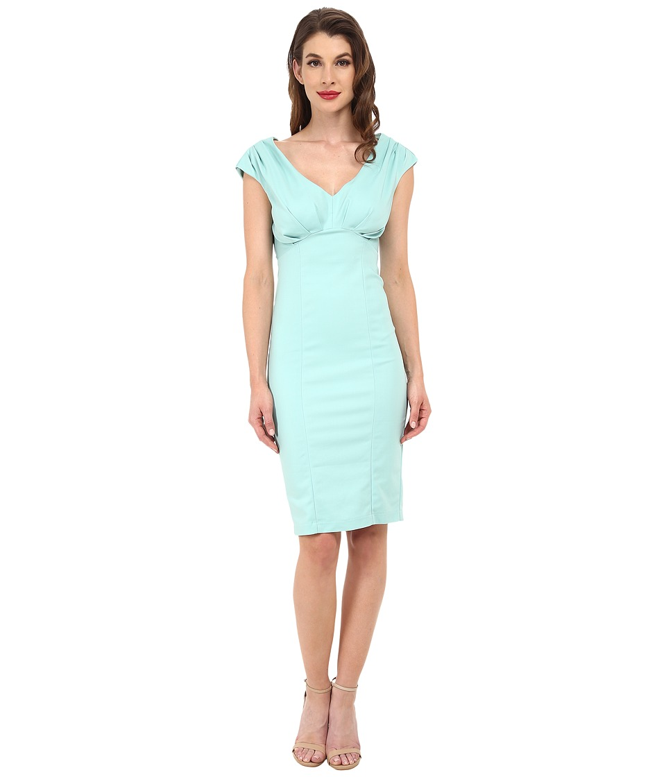 Unique Vintage - Bettie Pencil Dress Mint Green Womens Dress $98.00 AT vintagedancer.com