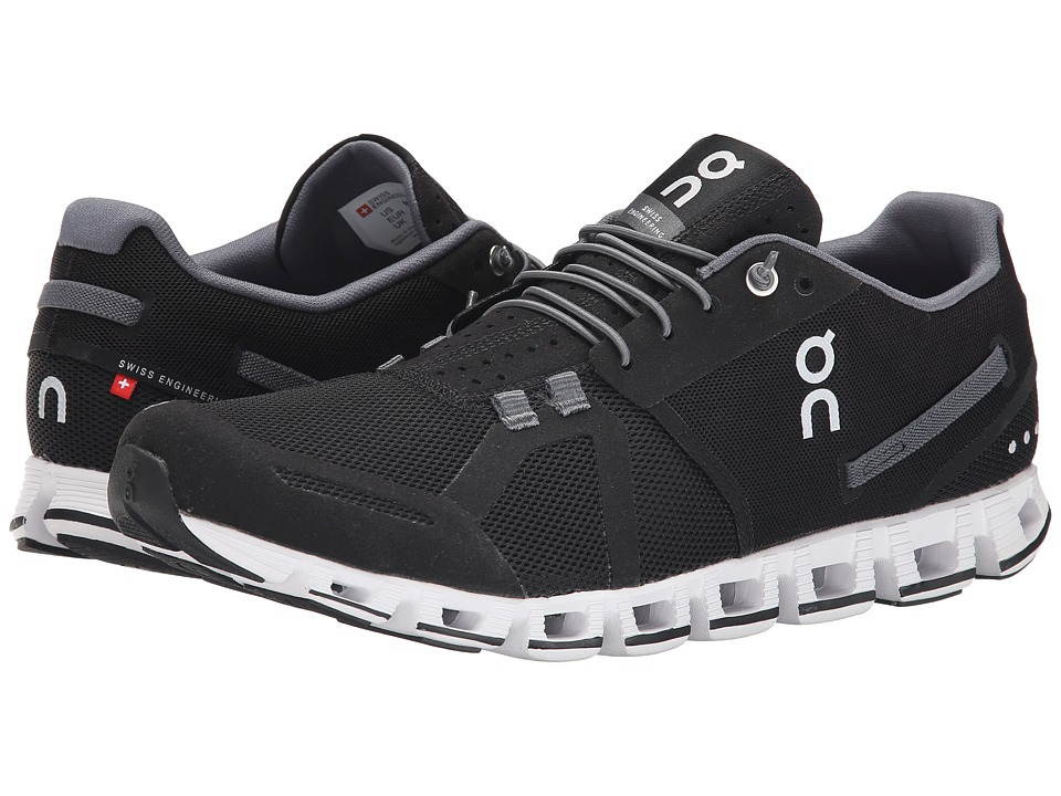 On Cloud Black/White Mens Running Shoes