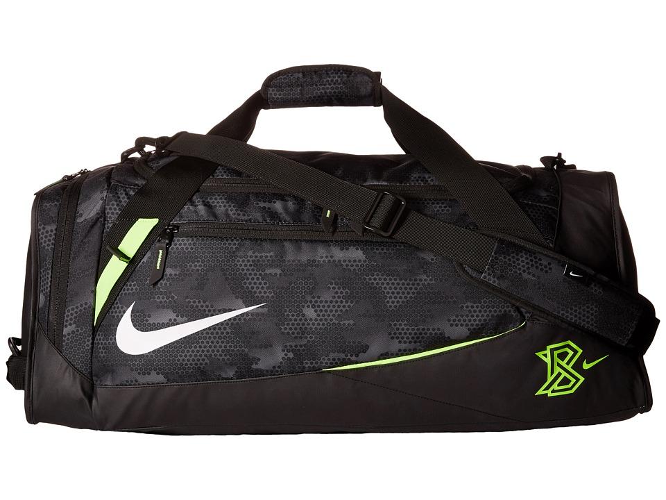Nike - MVP Select Bat Duffel Graphic (Black/Black/White) Duffel Bags