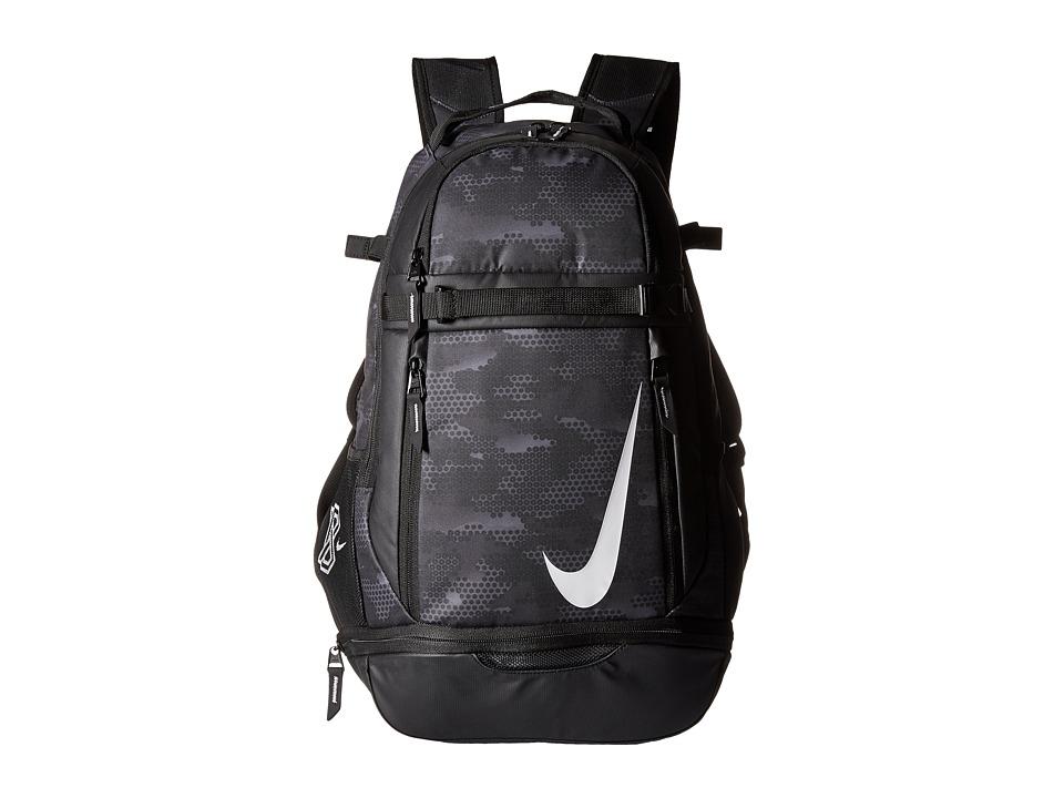 Nike - Vapor Elite Bat Backpack Graphic (Black/Black/White) Backpack Bags