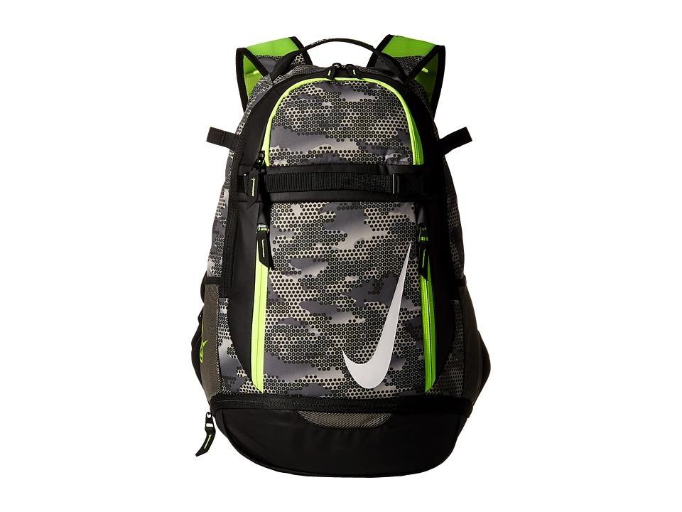 Nike - Vapor Elite Bat Backpack Graphic (Tumbled Grey/Black/Volt) Backpack Bags