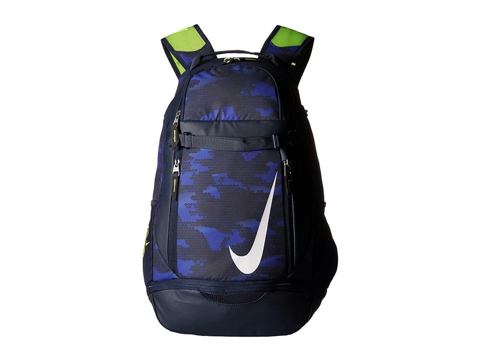 Nike - Vapor Elite Bat Backpack Graphic (Midnight Navy/Obsidian/White) Backpack Bags