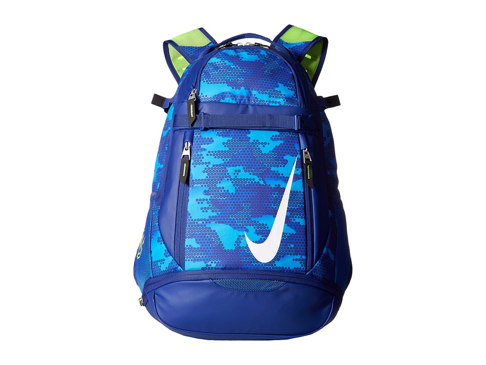 Nike - Vapor Elite Bat Backpack Graphic (Game Royal/Deep Royal Blue/White) Backpack Bags