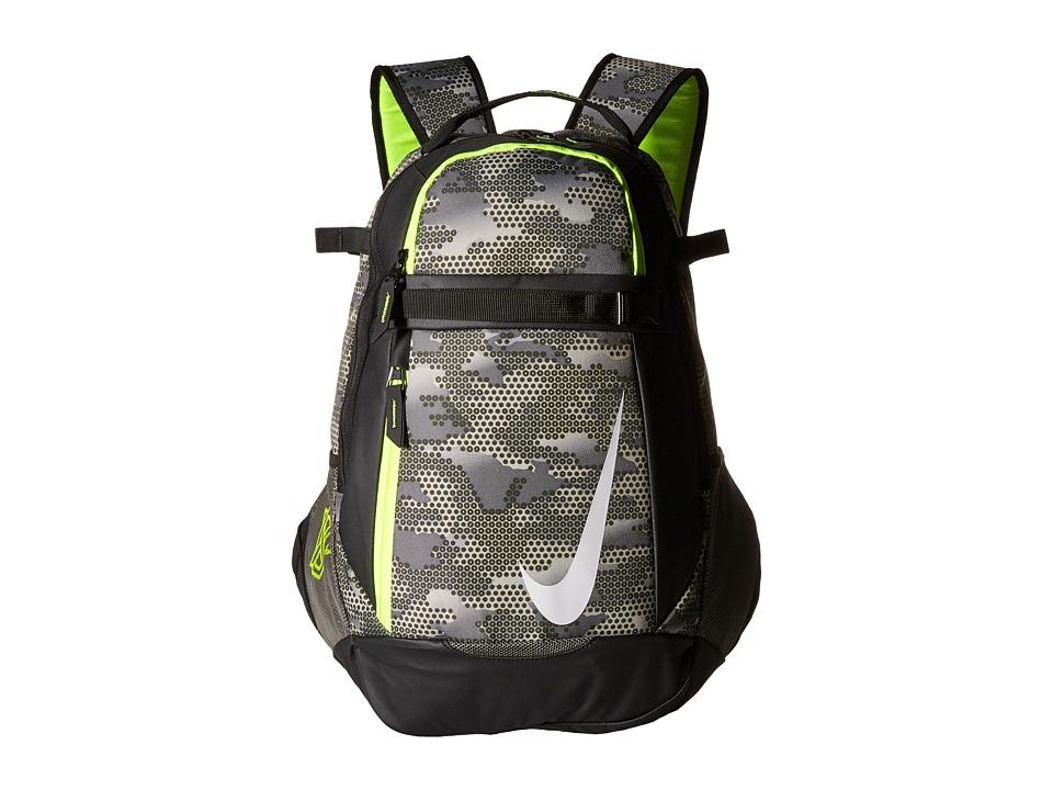 Nike - Vapor Select Bat Backpack Graphic (Tumbled Grey/Black/Volt) Backpack Bags