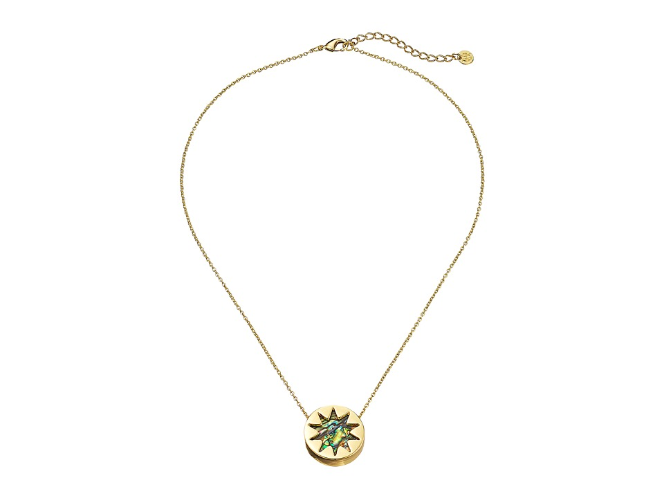 House of Harlow 1960 - Abalone Mini Sunburst Pendant Necklace (Abalone) Necklace
