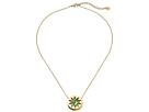 Abalone Mini Sunburst Pendant Necklace