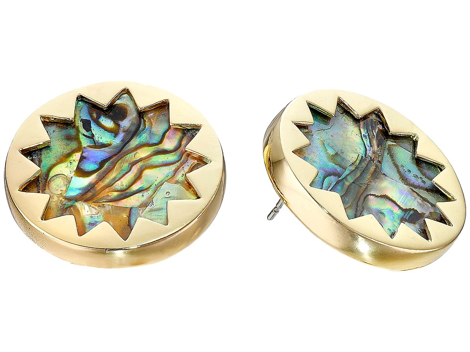 House of Harlow 1960 Abalone Sunburst Stud Earrings Abalone Earring