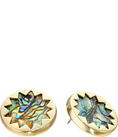House of Harlow 1960 - Abalone Sunburst Stud Earrings