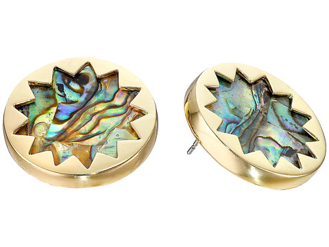 House of Harlow 1960 Abalone Sunburst Stud Earrings - Abalone