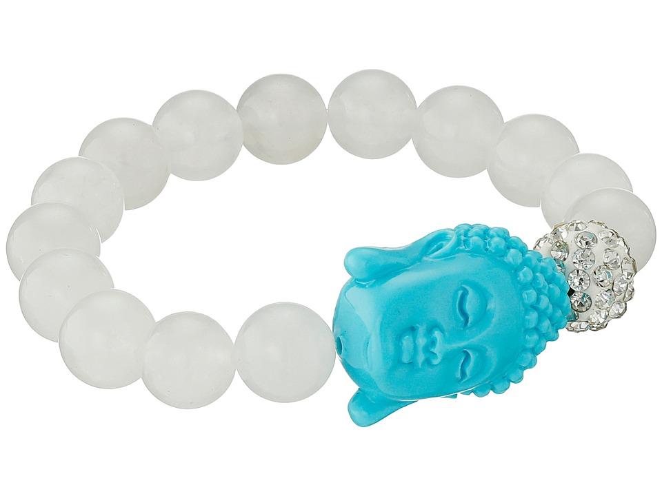 Dee Berkley Bliss Bracelet White/Turquoise Bracelet