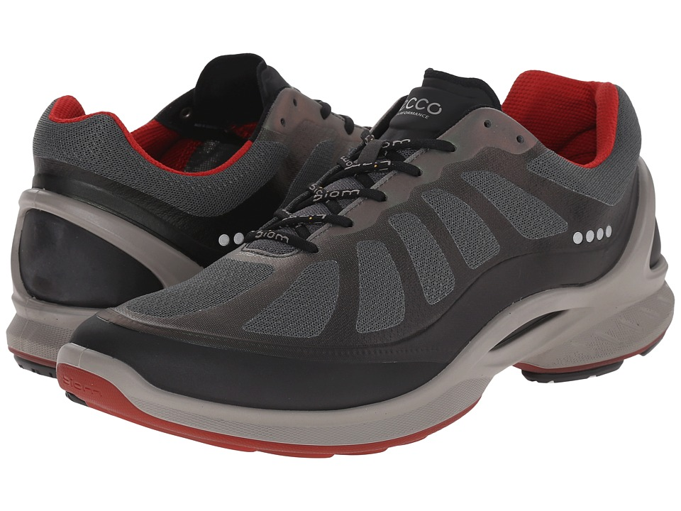ECCO Sport Biom Fjuel Racer (Black/Dark Shadow/Tomato) Men