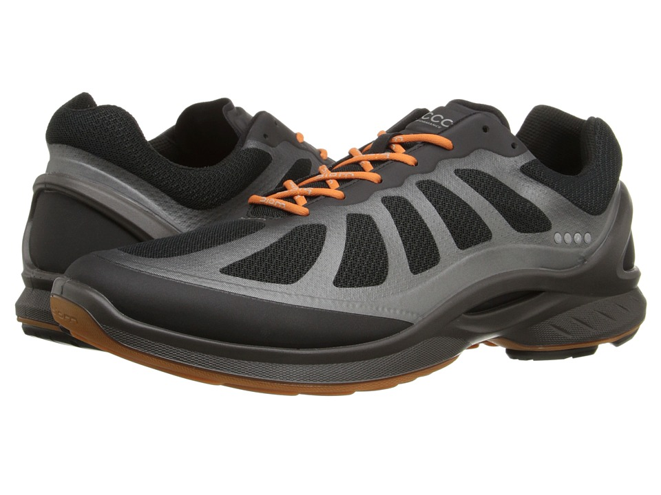 ECCO Sport Biom Fjuel Racer (Black/Black/Orange) Men