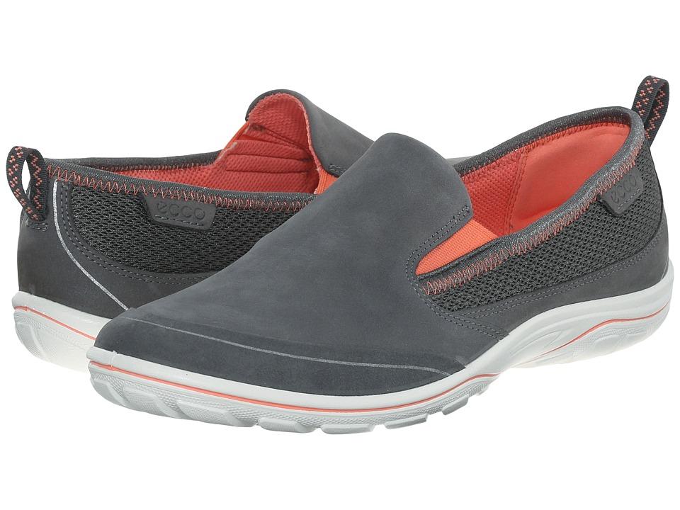 ECCO Sport Arizona Slip On Dark Shadow/Coral Womens Slip on Shoes