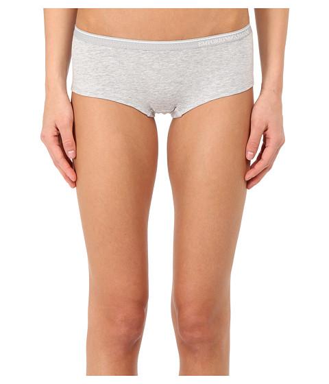 Emporio Armani Essential Stretch Cotton Cheeky Pants - Grey Melange