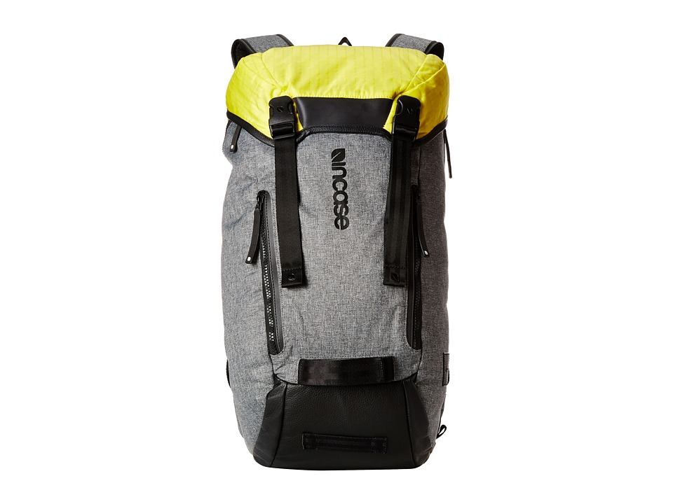 Incase Halo Collection Courier Backpack Heather Gray/Black/Yellow Backpack Bags