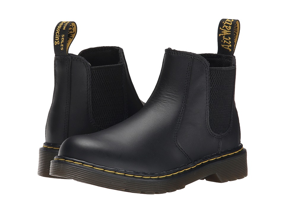 Dr. Martens Kids Collection - 2976 Junior Banzai Chelsea Boot (Little Kid/Big Kid) (Black Softy T) Kids Shoes