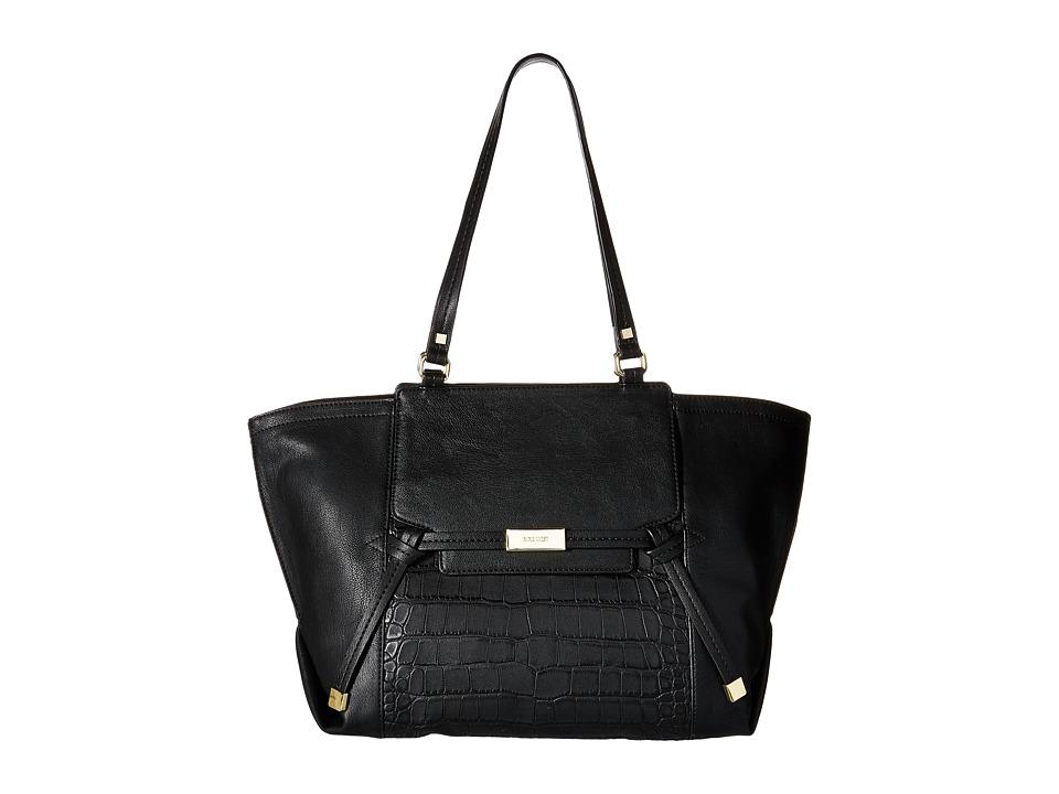 Nine West - Tied and True Tote (Black/Black) Tote Handbags