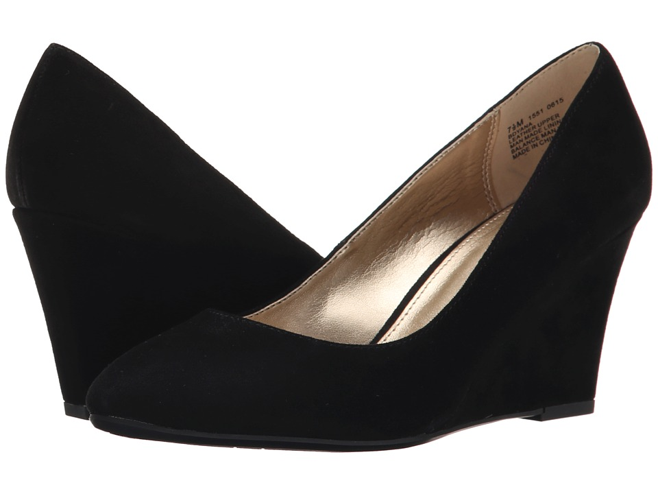 Bandolino - Yana Black Suede Womens Shoes $69.00 AT vintagedancer.com