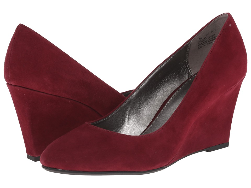 Bandolino - Yana Wine Suede Womens Shoes $69.00 AT vintagedancer.com