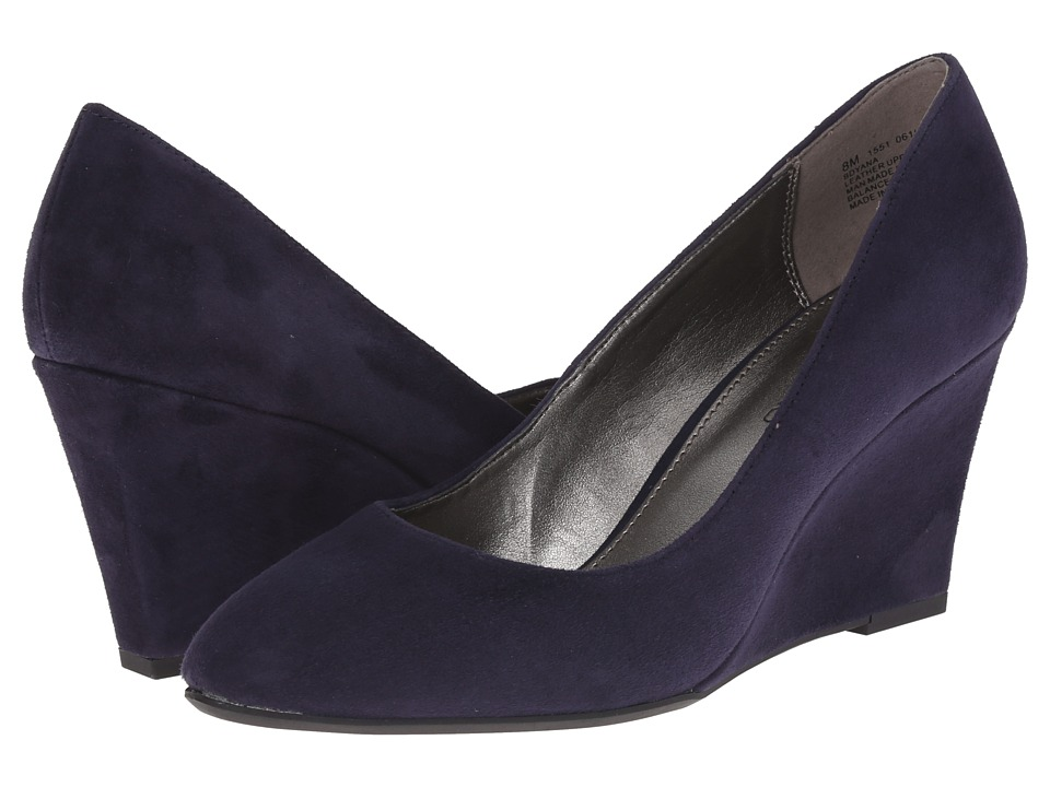 Bandolino - Yana Navy Suede Womens Shoes $69.00 AT vintagedancer.com