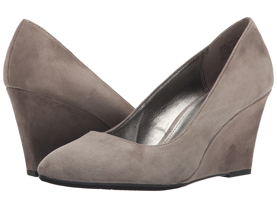 Bandolino - Yana Medium Grey Suede Womens Shoes $69.00 AT vintagedancer.com