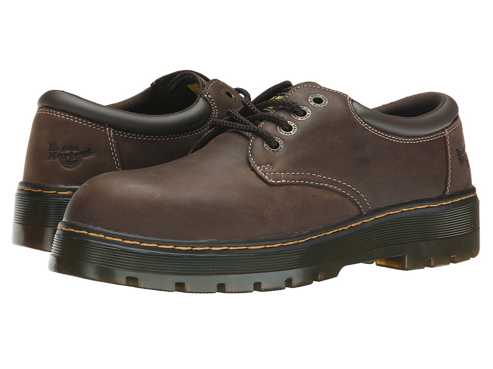 Dr. Martens Work Bolt ST Dark Brown Wyoming/Brown PU Mens Shoes