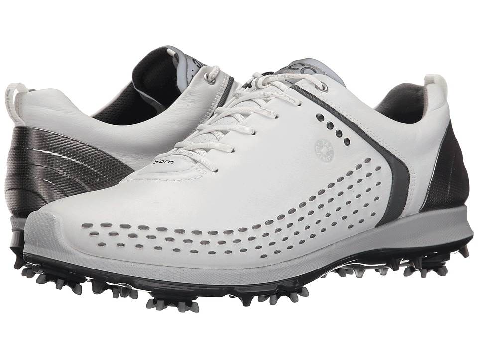 ECCO Golf BIOM G 2 White/Dark Shadow Mens Golf Shoes