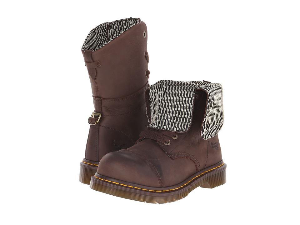 Dr. Martens Work - Leah Steel Toe (Dark Brown Wyoming) Wo...