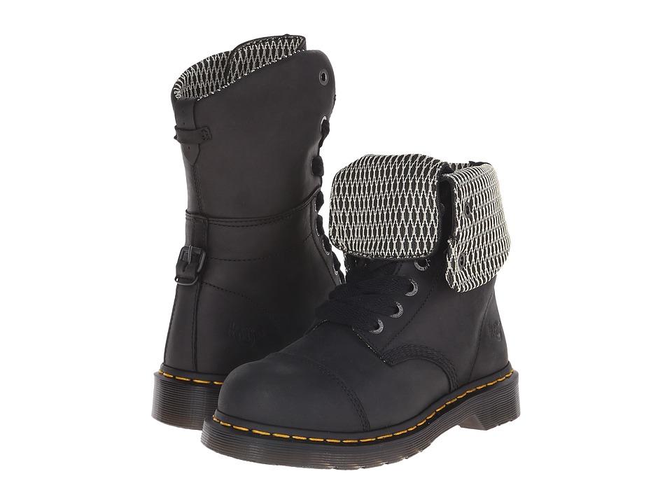 Dr. Martens Work - Leah Steel Toe (Black Wyoming) Women's...