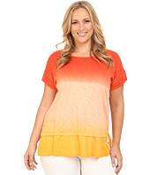 DKNY Jeans - Plus Size Ombre Summer Sweatshirt w/ Woven Trim
