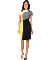 Anne Klein - Crepe Cap Sleeve Angles Seam Sheath