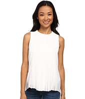 DKNYC - Tech Crepe Washed Pleated Button Thru Blouse