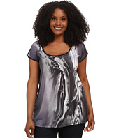 DKNY Jeans - Plus Size Inky Print Top