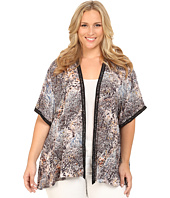 DKNY Jeans - Plus Size Coral Reef Print Kimono
