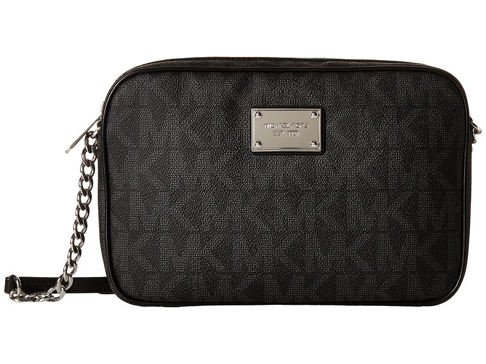 MICHAEL Michael Kors - Jet Set Item Large Extra Wide (Black) Cross Body Handbags