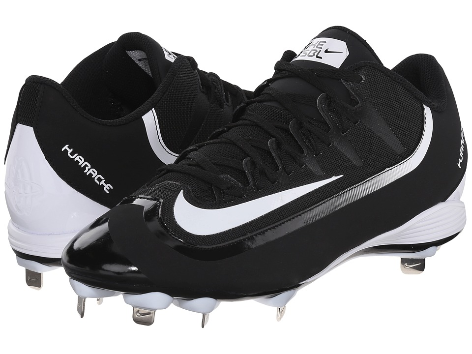 Nike - Huarache 2KFilth Pro Low (Black/White) Mens Cleated Shoes