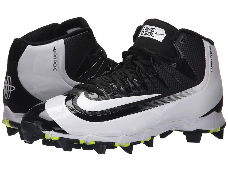 Nike - Huarache 2KFilth Keystone Mid (Black/Volt/White) Mens Cleated Shoes