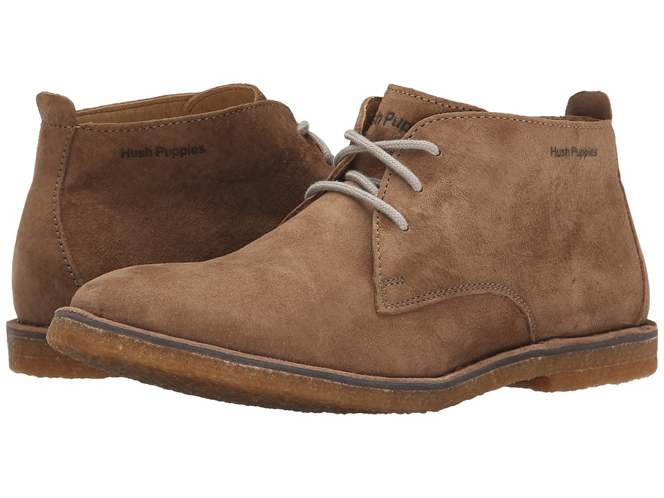 Hush Puppies Desert II Taupe Suede Mens Lace up casual Shoes