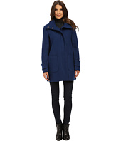 Kenneth Cole New York - Funnel Neck Zip Front Wool Coat