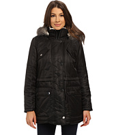 Kenneth Cole New York - Hooded Parka with Faux Fur Trim & Sherpa Lining