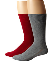 Levi's® - 168 Needle 2-Pack Solid Regular Sock