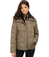 Kenneth Cole New York - Down Jacket with Faux Fur Trim