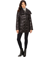 Kenneth Cole New York - Asymmetrical Packable Faux Down Coat