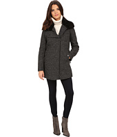 Kenneth Cole New York - Novelty Wool with Faux Fur Collar