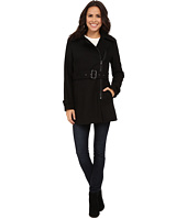Kenneth Cole New York - Asymmetrical Zip Front Wool Coat