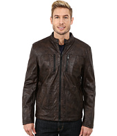 Kenneth Cole Reaction - Sherpa Lined Faux Leather Coat